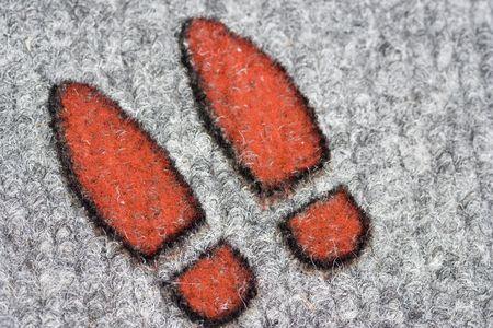 suspect: footprints - shoe prints of a suspect - adobe RGB Stock Photo