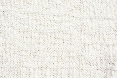 purls: Close-up of a woolen pattern - knitting pattern with purls and knits  Stock Photo