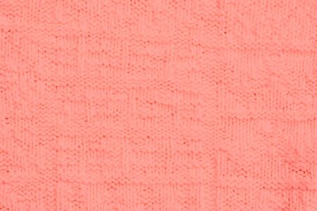 purls: Close-up of a woolen pattern - knitting pattern with purls and knits - adobe RGB Stock Photo