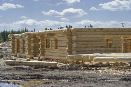 New home construction site - British Columbia, Canada Stock Photo - 3823208