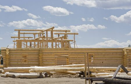 New home construction site - British Columbia, Canada Stock Photo - 3865545