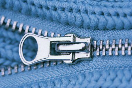 wooly: Close-up of an Open Zipper - part of a sweater