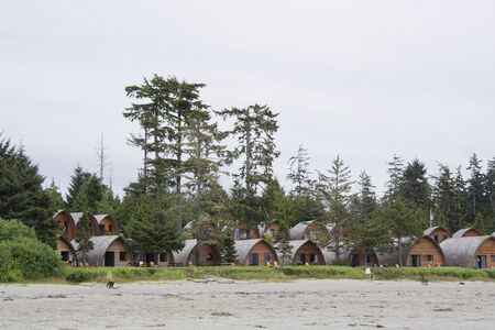 Tourist Resort on Long Beach - Pacific Rim National Park, Vancouver Island, British Columbia, Canada Stock Photo - 4573758