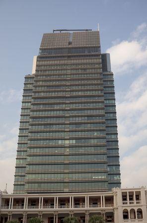 highriser: Solar powered Skyscraper in Hong Kong - Tsim Sha Tsui, Kowloon, Hong Kong, China, Asia - Details: Adress: One Peking Road, Height 160m, 525ft, construction 2000 -   2003; 30 floors, 4 Basemant Floors. This was the first skyscraper in Hong Kong to power wi