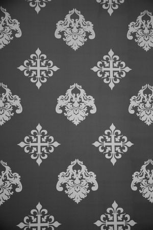 Vintage Wallpaper - Historic Pattern from 18th century Stock Photo