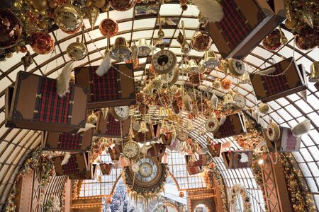 hectic: Harbour City in Hong Kong with Christmas Decoration - Shopping Mall in Tsim Sha Tsui, Kowloon, Hong Kong, China, Asia