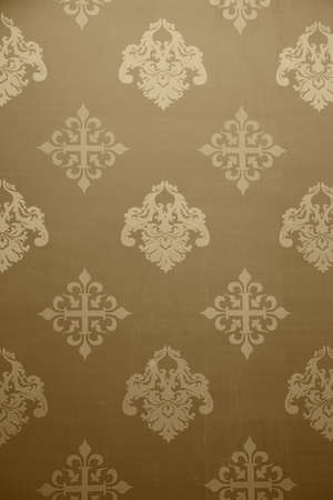 outmoded: Vintage Wallpaper - Historic Pattern from 18th century - grain added