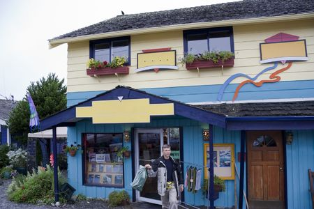 Small Shop with Customer - Tofino, Vancouver Island, British Columbia, Canada photo