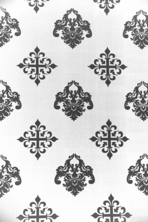 lys: Vintage Wallpaper - Historic Pattern from 18th century Stock Photo