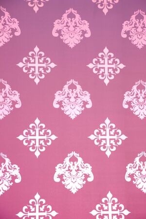 outmoded: Vintage Wallpaper - Historic Pattern from 18th century Stock Photo