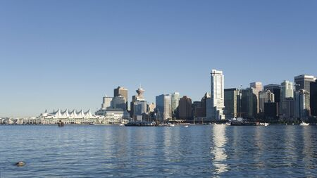 Vancouver Downtown seen from Stanley Park - Vancouver, British Columbia, Canada
