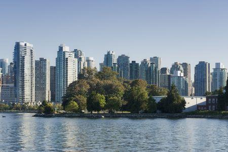 Vancouver Cityscape with Deadmans Island - Vancouver, British Columbia, Canada