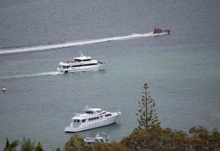 Passenger Ship and Yachts in Bay of Islands - Russell, Northland, North Island, New Zealand