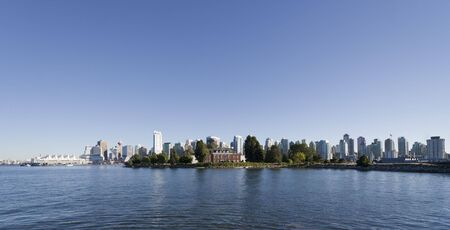 Panorama of Vancouver, British Columbia, Canada - With Canada Place and Deadmans Island