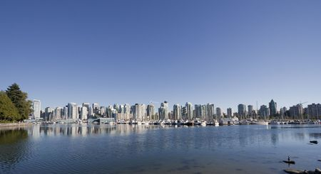 Downtown Vancouver BC seen from Stanley Park - Vancouver, British Columbia, Canada