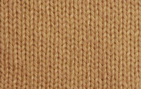 Macro of a woolen Pattern - Detail of plain Knitting photo