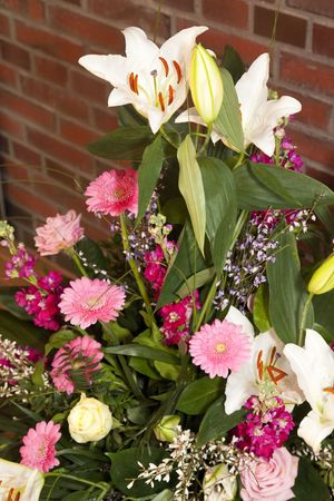Bouquet of Flowers - Lilies, Roses and Gerbera Daisies