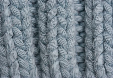 Macro of a woolen Pattern - Knitting Pattern with Purls and Knits