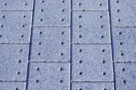 Sidewalk Close-Up - Paving Pattern with Concrete Stones