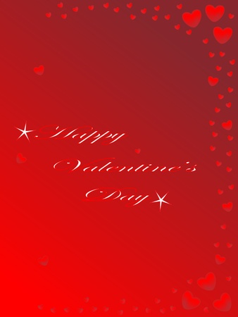 Valentines day card with little hearts