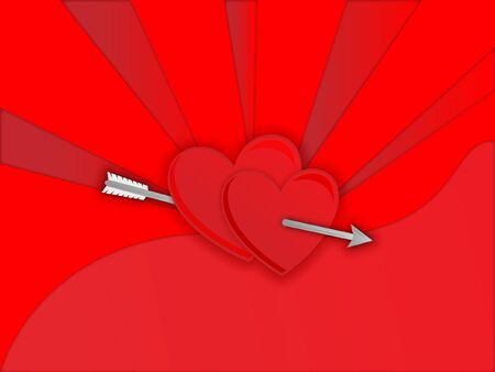 Two hearts shot whit arrow Illustration