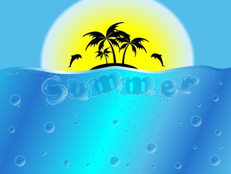 Summer background, grouped and layerd, easy to edit Illustration