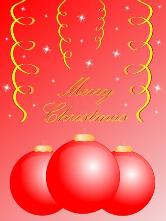 festive shiny christmas greeting card, easy to edit