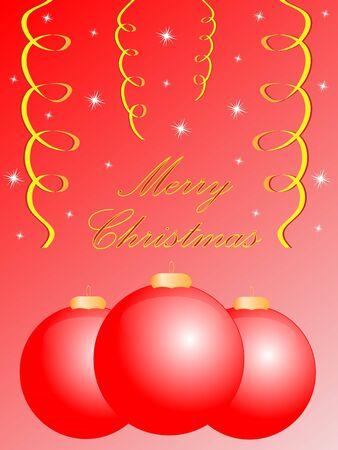 festive shiny christmas greeting card, easy to edit