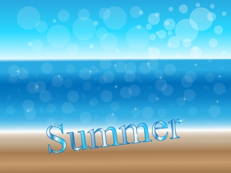 Hot sunny summer background, sea and beach