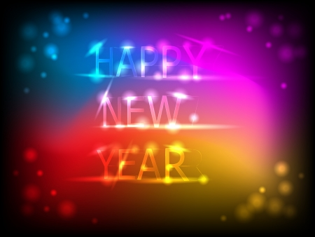 Colorful  Happy New Year  background vector illustration