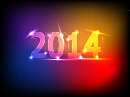 Colorful 2014 New Year background vector illustration