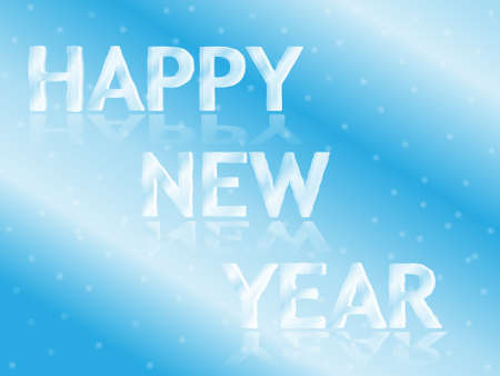 Icy Happy New Year Greeting card vector illustration Illustration