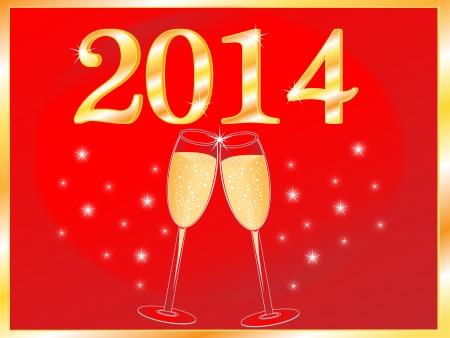 Colorful New Year celebration background vector illustration