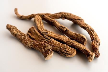 Calamus Root (Sweet root, Vasambu) Isolated  on White Background
