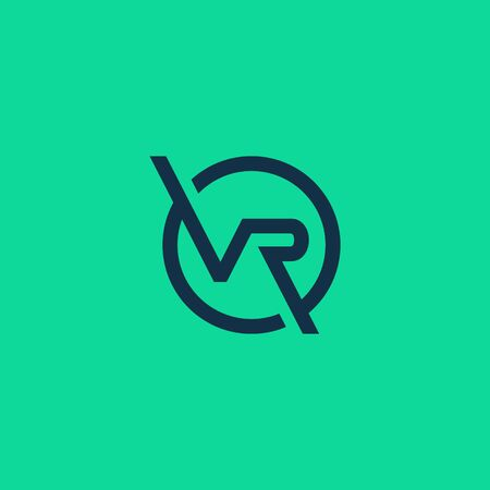 letter vr logo, initial vr logo designs . modern abstract style