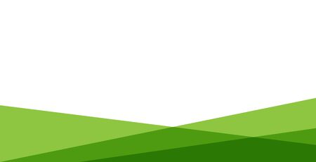 abstract green background . green and white simple and clean background Illustration