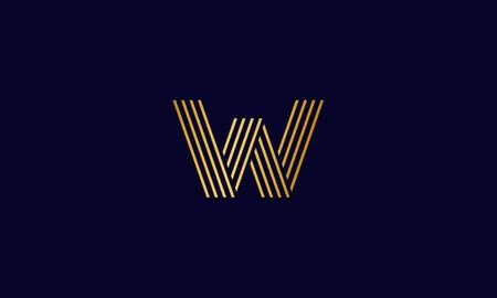 Letter W logo design, modern letter W logo design using modern gradient color