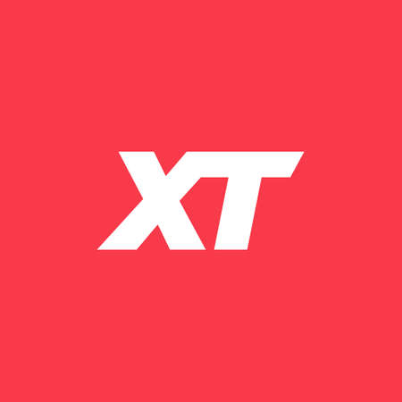 XT Logo design . Letter XT logo design with modern and clean style