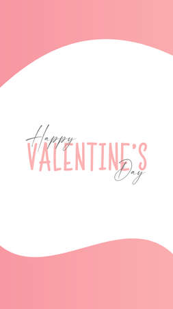 Happy Valentine's Day . Valentine Day Greeting Card . Vector illustrations