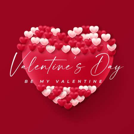 Valentine background design. valentines day illustration concept Иллюстрация