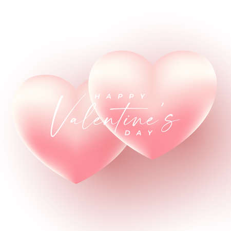 Valentines Day Background design with realistic style . vector illustration