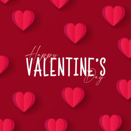 Happy Valentines day. Valentine day background design. Vector illustration. Иллюстрация