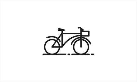 bicycle icon or bike icon isolated on white background. vector illustration Иллюстрация