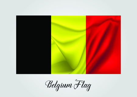 Belgium 3D Flag Vector illustration Illustration