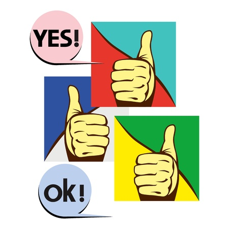 male hand showing a ok hand sign Stock Vector - 17043517