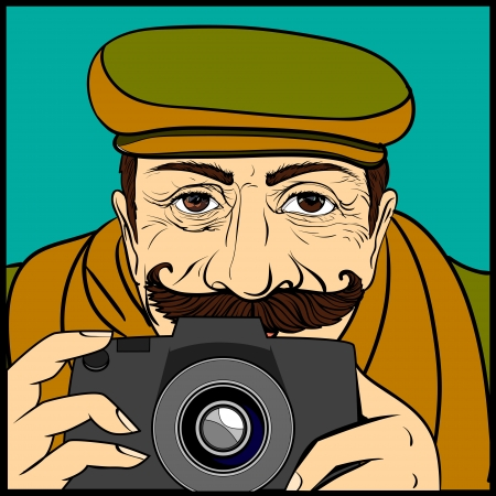the person with the camera was going to do photofilming,no layer Stock Vector - 17627169