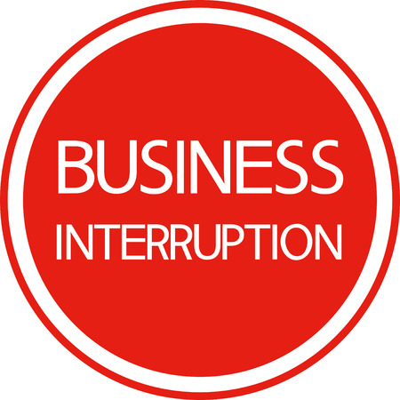 inconvenience: A sign warns round, on a red background. For staff employees.