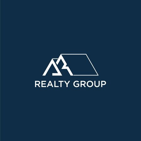 Simple and modern logo design of realty group with clean background - EPS10 - Vector. Illustration