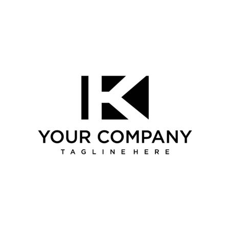 Clean and modern logo design of letter K with white background - EPS10 - Vector.