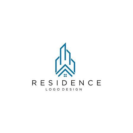 Modern logo design real estate company white background - - Vector.